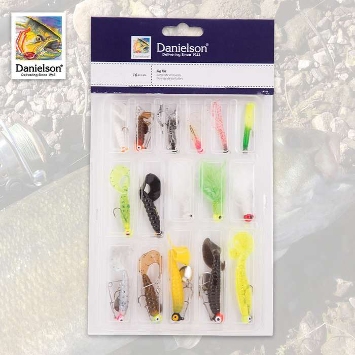 16-PC Fishing Gamefish Jig Kit - Assorted Sizes And Colors