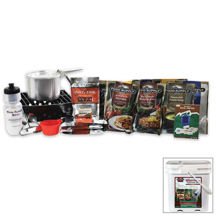Deluxe 72-hour Food, Fire & Filter Kit