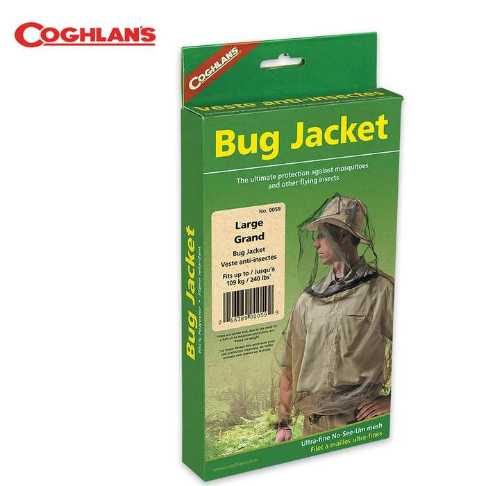 Coghlan's Bug Jacket - Polyester Mesh Insect / Pest Protection - LRG