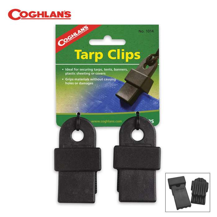 Coghlan's Tarp Clips, Pair