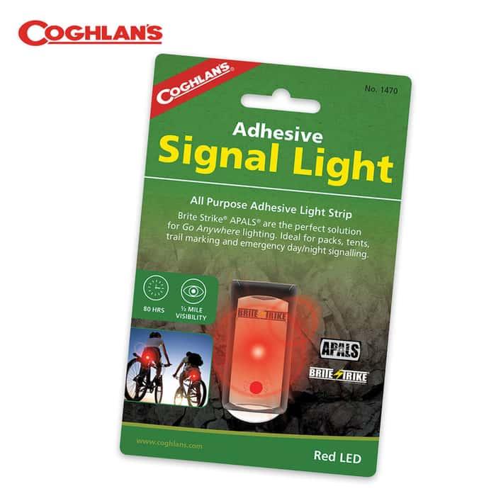 Coghlans Brite Strike All Purpose Adhesive Light Strip Signal Light Red