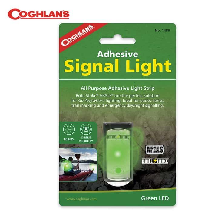 Coghlans Brite Strike All Purpose Adhesive Light Strip Signal Light Green