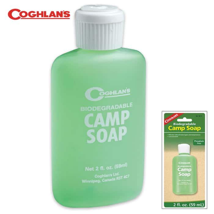 Biodegradable Hypo-Allergenic Camp Soap  2 oz.