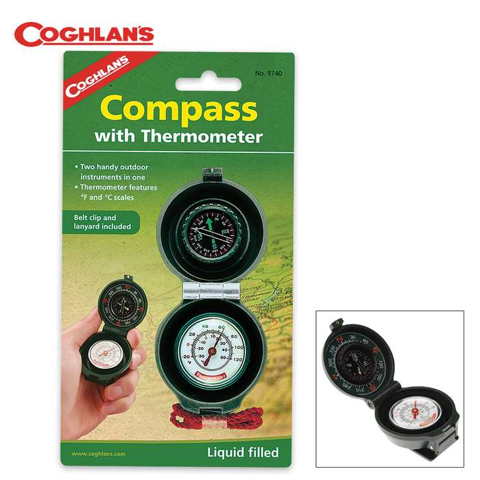 Coghlan's Compass Thermometer
