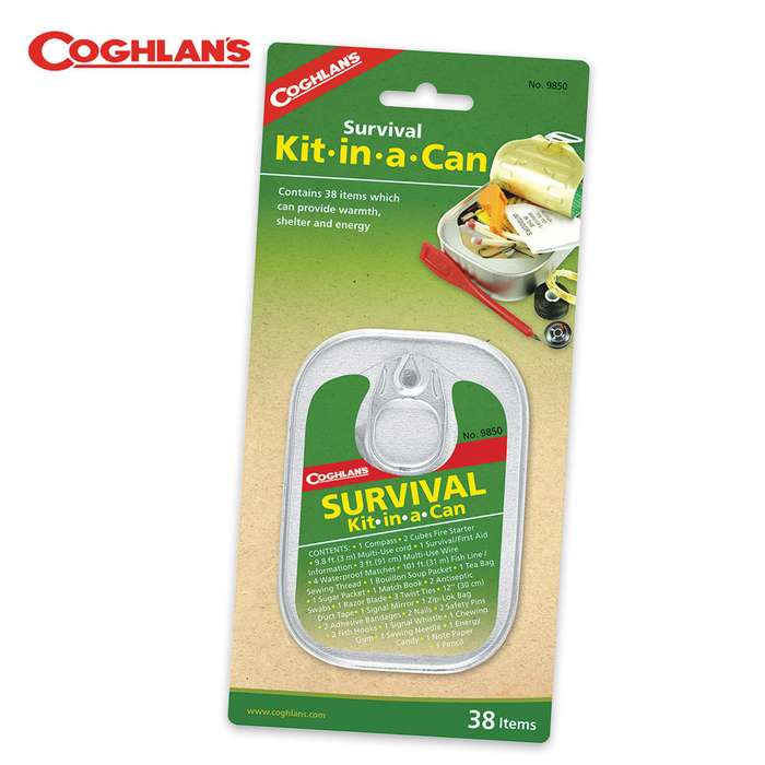 Coghlans Survival In A Can Survival Kit 38 Piece