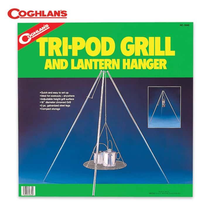 Coghlans Tri-Pod Grill & Lantern Hanger