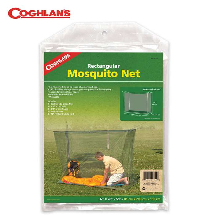 Coghlans Cot Mosquito Net Olive Drab