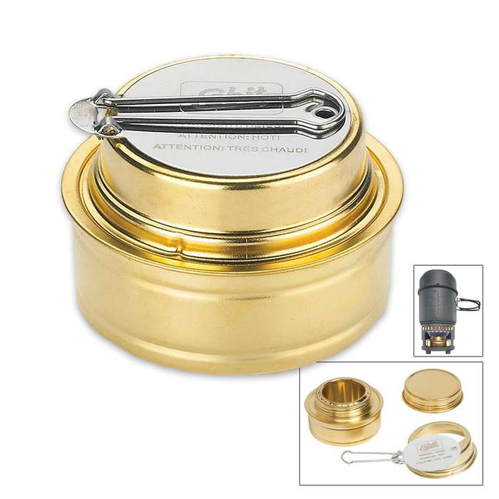 Brass Alcohol Burner With Lid Handle