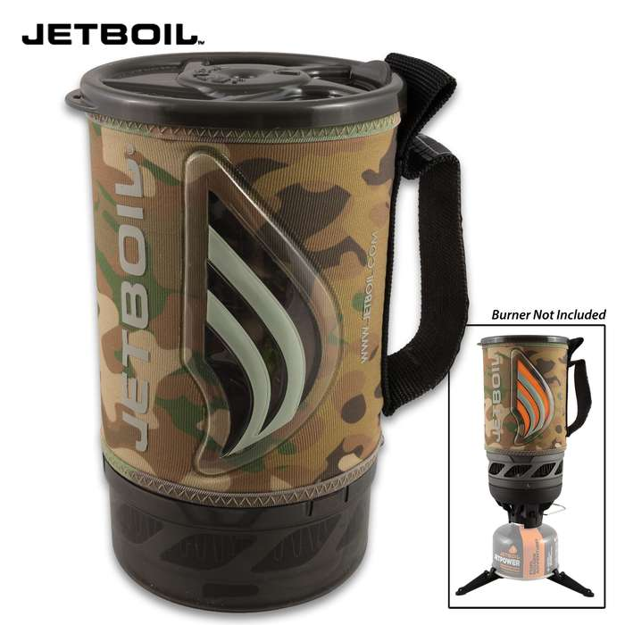 Jetboil Flash Personal Cooking System - Lightning Fast Boil, Compact And Lightweight, Push-Button Igniter, Fuel Canister Stabilizer