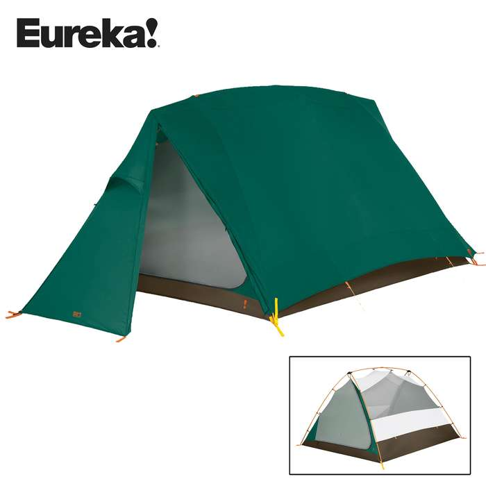 Timberline Two-Person Three-Season Tent - Six-Pole A-Frame Construction, Two D-Style Doors, Bathtub Floor Design