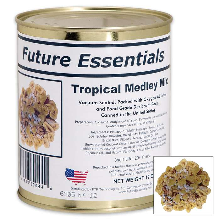 Future Essentials 12-oz Tropical Medley Fruit and Nut Mix in Vacuum-Sealed Can