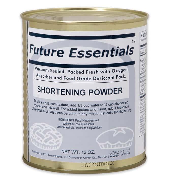 Future Essentials 12 oz. Shortening Powder in Vacuum-Sealed Can
