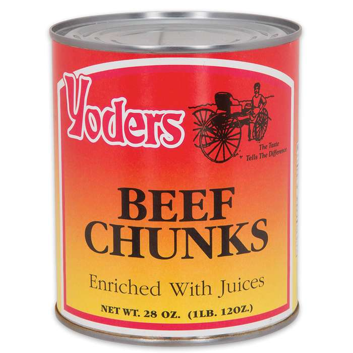 Yoder's 28 oz Amish-Raised Beef Chunks in Vacuum-Sealed Can