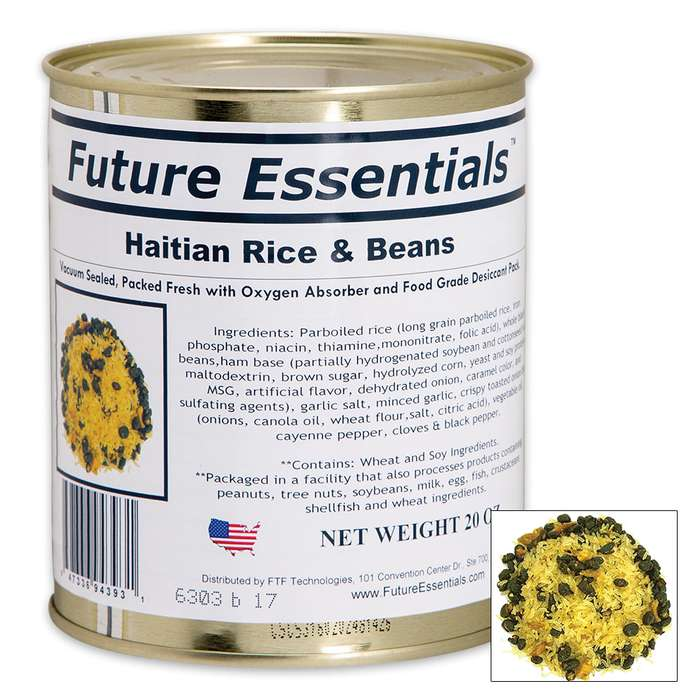 Future Essentials 16-oz Haitian Rice and Beans in Vacuum-Sealed Can
