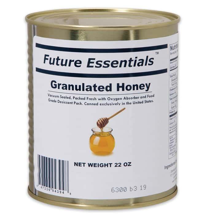Future Essentials 22 oz. Granulated Honey in Vacuum-Sealed Can