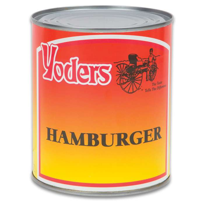 Yoder's Hamburger Ground Beef - Fully Cooked, 10+ Year Shelf-Life, Produced In USA, USDA Inspected - 28 Ounces