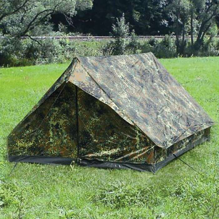 Flectar camo 2 person mini pack tent on grass