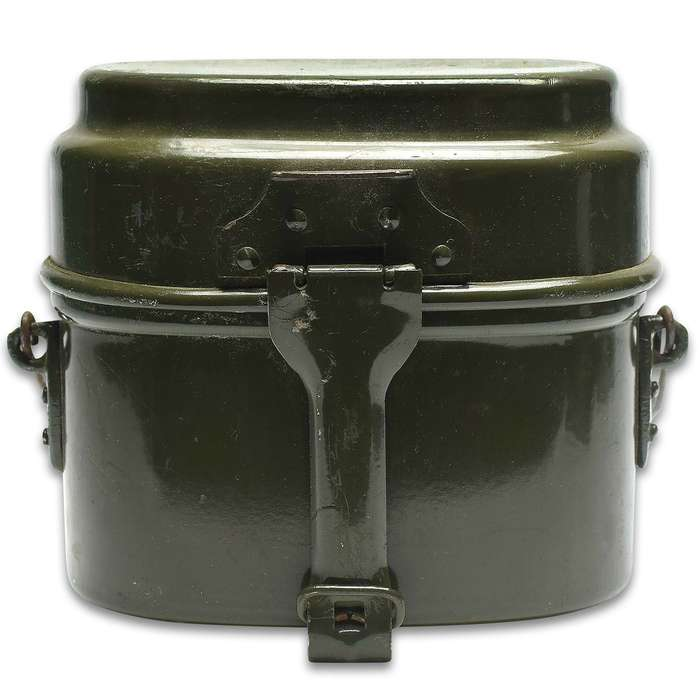 Military surplus finds like this Hungarian Two-Piece Mess Kit make great additions to your camping and survival gear