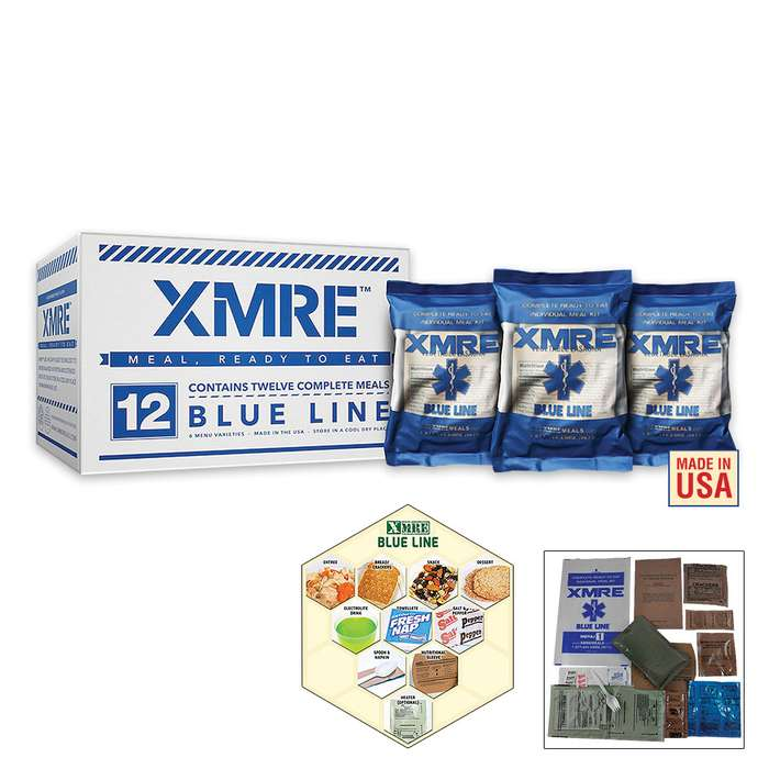 XMRE Blue Line Meals Case -  MRE 12 Pack