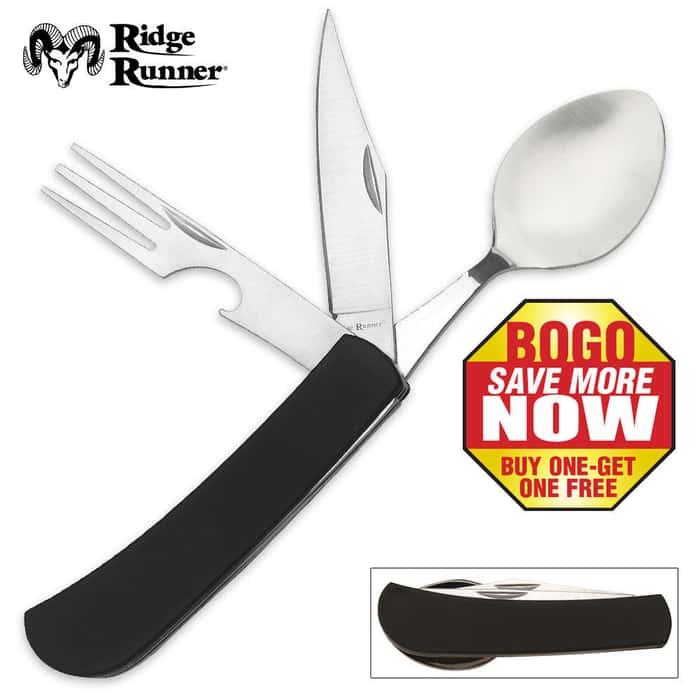 Ridge Runner Hobo Tool (Knife, can opener, fork, spoon) 2 for 1