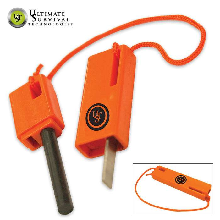 UST SparkForce Flint Based Fire Starter Orange