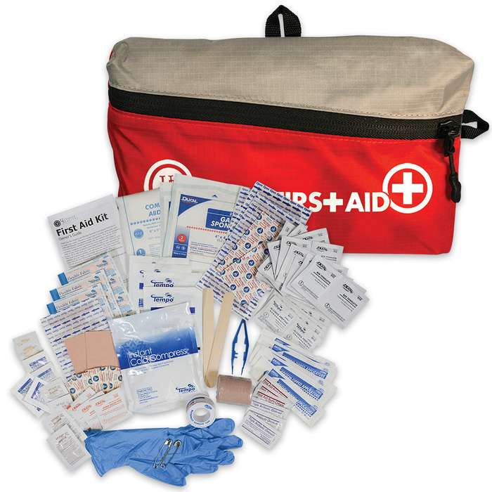"Featherlite First Aid Kit 2.0 - Contains Assortment Of First Aid Supplies, Nylon Cloth Bag With Zipper Closure - Dimensions 8 1/4"" x 4 3/4"" x 2"""