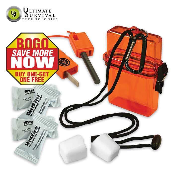 UST Fire Starter Kit 1-0 Orange - BOGO