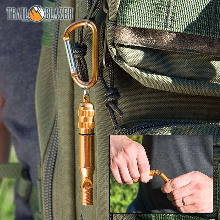 Trailblazer Emergency Whistle With Carabiner