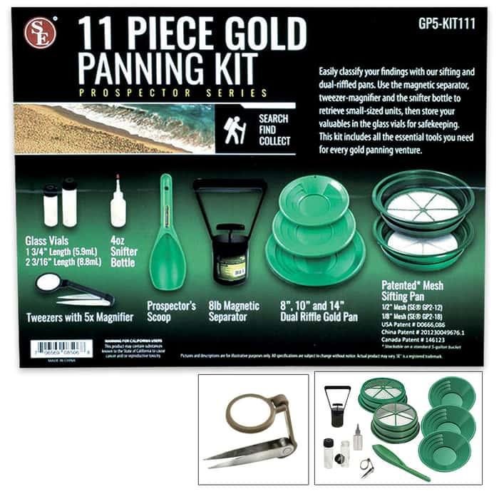 11-Piece Prospector Gold Panning Kit