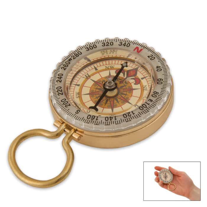 Glow In The Dark Brass Compass