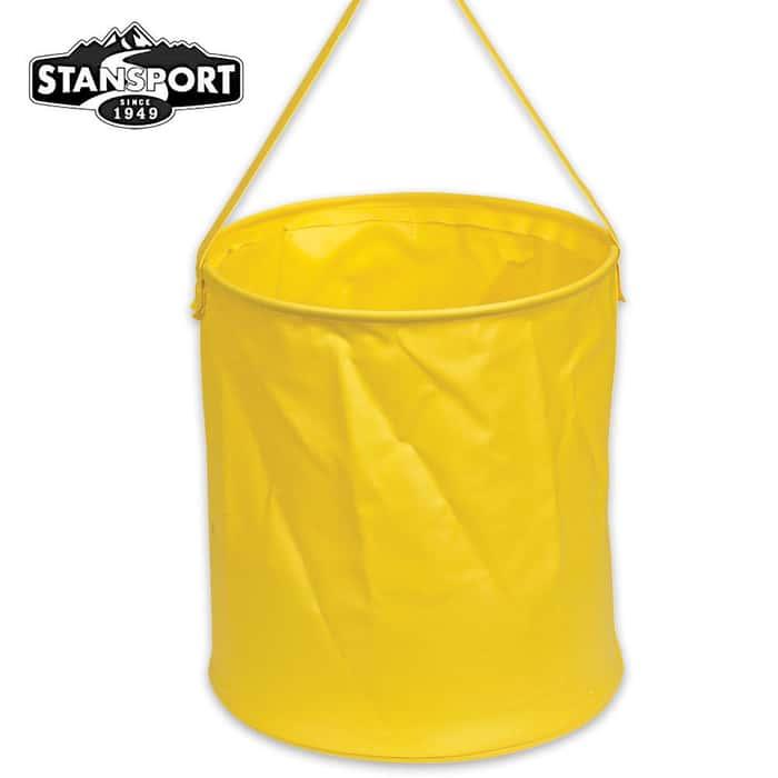 2-1/2 Gallon Portable Vinyl Water Bucket Yellow