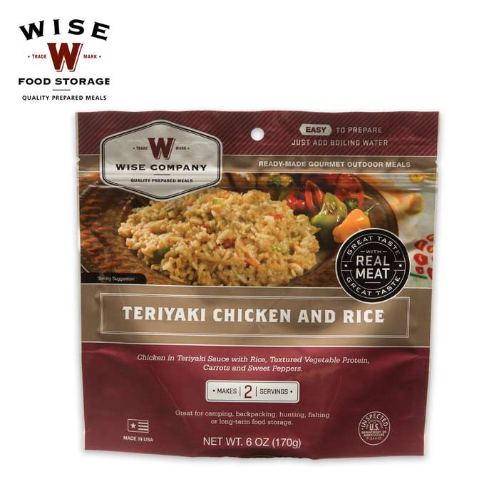 Wise 2-Serving Freeze Dried Meal Pouch Creamy Pasta and Vegetable Rotini with Chicken