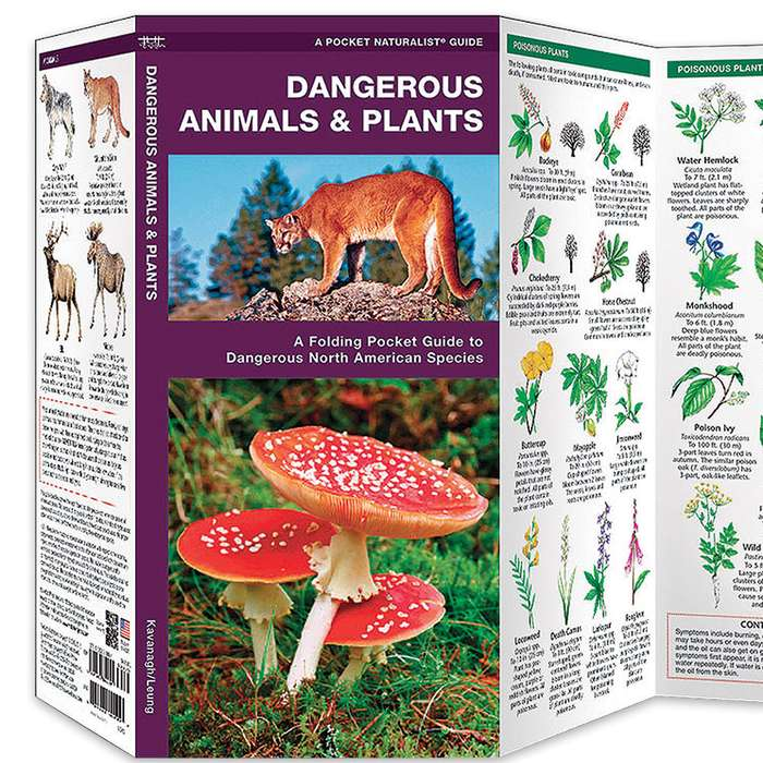 Dangerous Animals And Plants Folding Pocket Guide