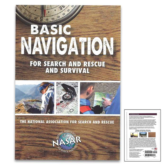 Basic Navigation For Search And Rescue Waterproof Field Guide - Compact Folding Format, Portable Detailed Information, Lightweight And Durable