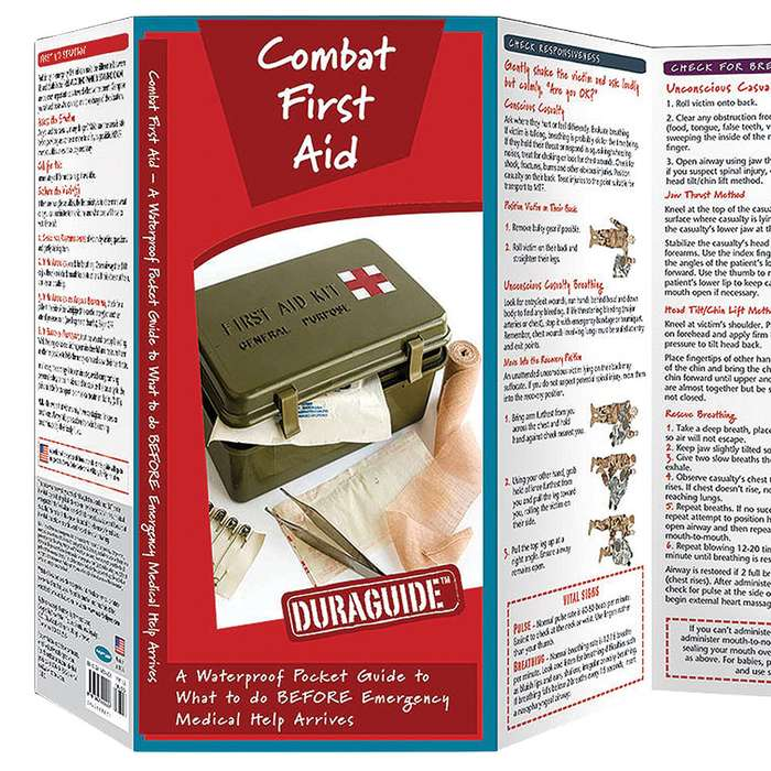 Combat First Aid Waterproof Pocket Guide