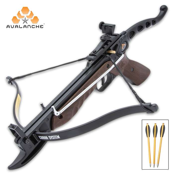 80 lb cobra crossbow pistol with wood handle