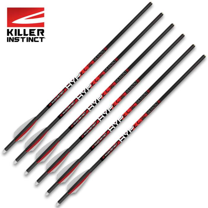 "Each is 20"" in length and 390 grains, fletched with 3"" vanes that have inserted moon nocks"