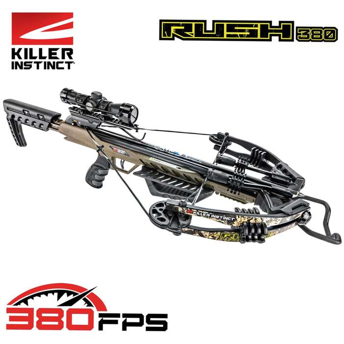 This crossbow delivers major knockdown power, shot-after-shot downrange accuracy, and year-after-year dependability