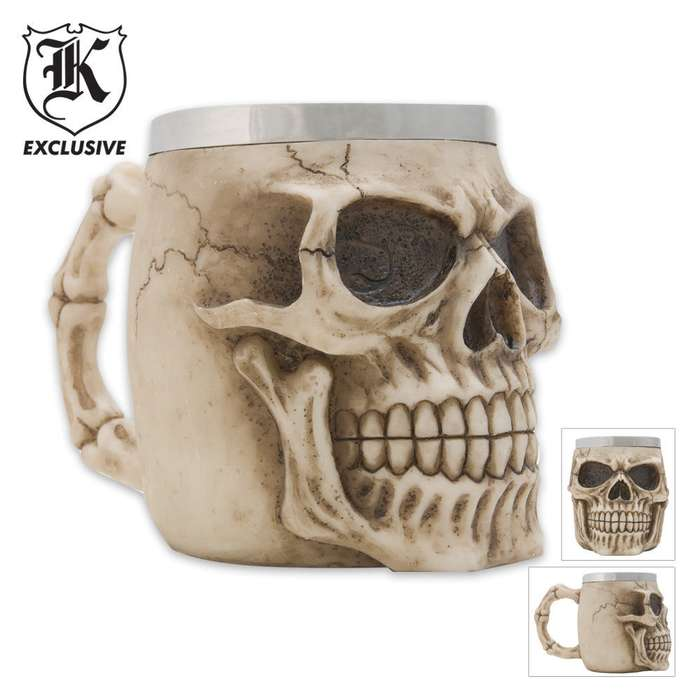 Realistic Fantasy Skull Coffee Mug  And Tankard