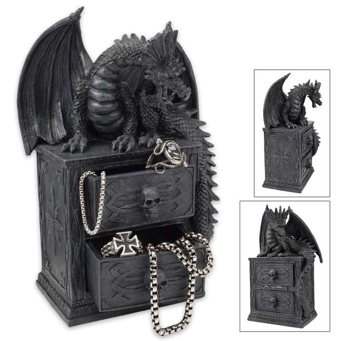 Dragon Guard Gothic Chest Of Drawers