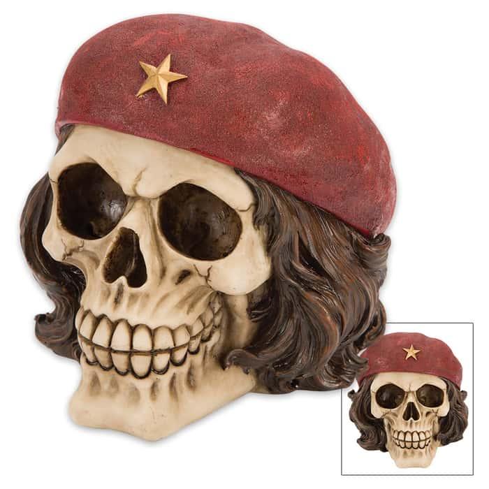 Revolutionary Bones Che Guevara Skullpture