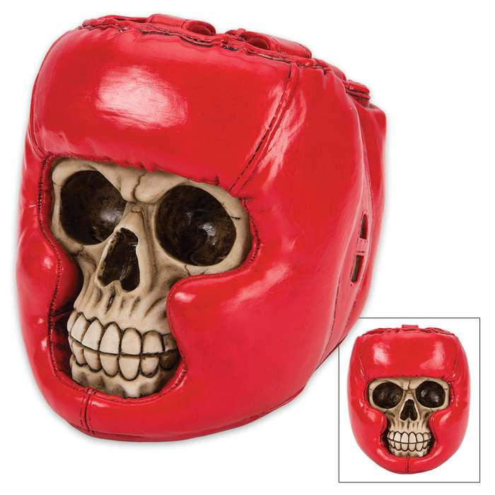 Bone Champ Boxer Skullpture