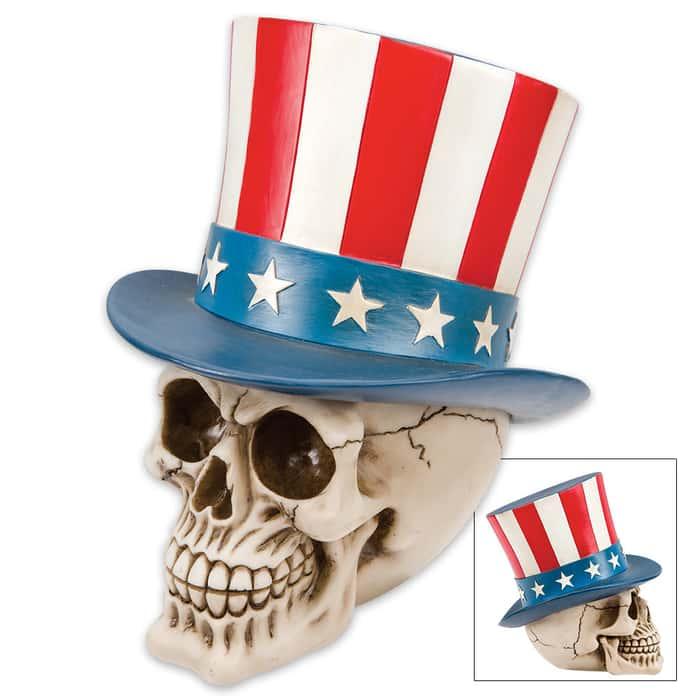 Yankee Doodle Bones Skullpture