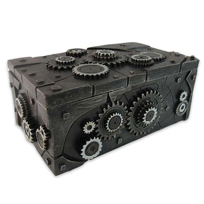 """Clockwork"" Steampunk-Style Trinket / Jewelry Box"