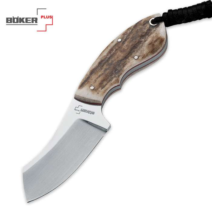 Boker Plus VoxKnives Rhino Fixed Blade Knife with Stag Handle