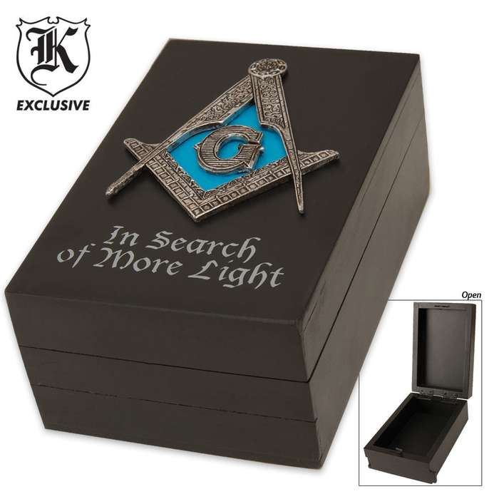 Masonic Desk Décor Trinket Box