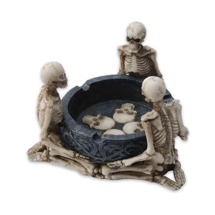 Celtic Kneeling Skeletons Ashtray