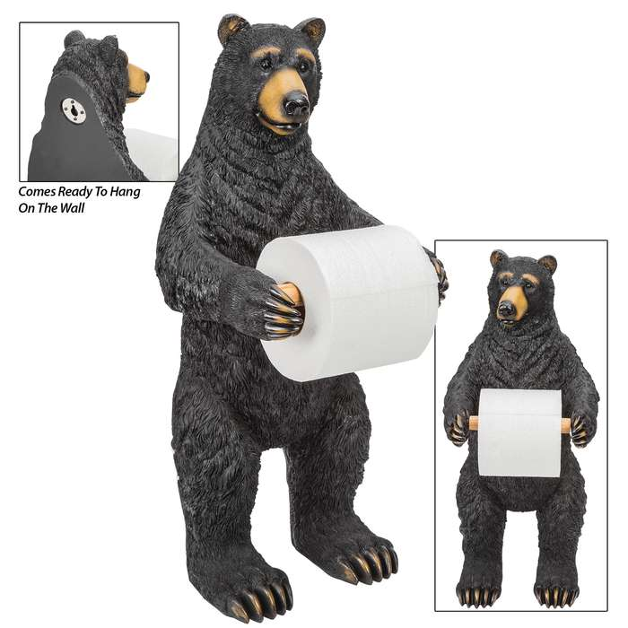 Bear Standing Toilet Paper Holder