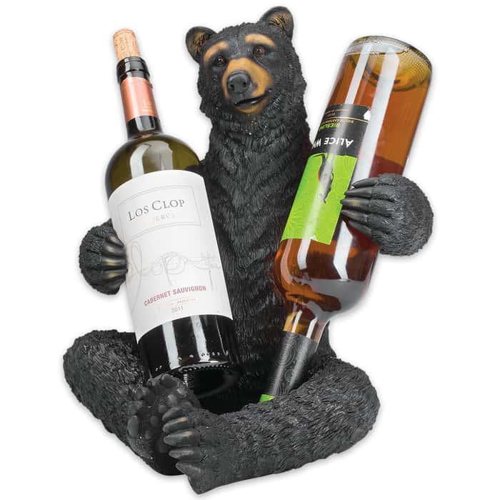 Black Bear Double Wine Bottle Holder
