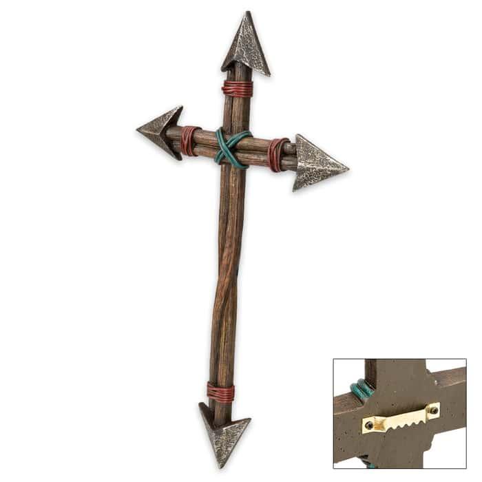 Rustic Arrow Cross Plaque